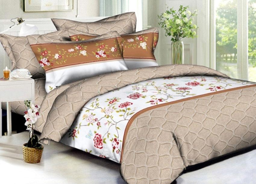 Купить Комплекты постельного белья Примавера, Постельное белье Kelvin (2 спал.), Китай, Кремовый, Оранжевый, Хлопковый сатин
