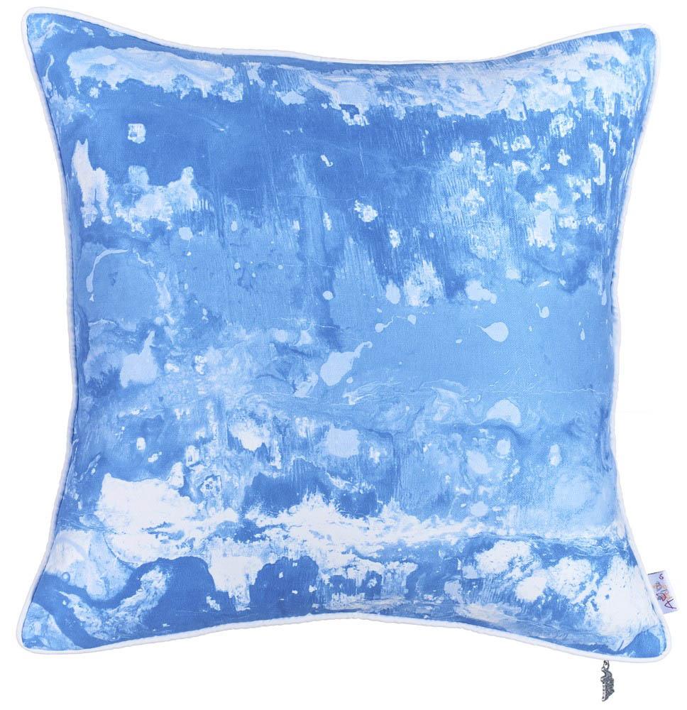 Купить Декоративные подушки Apolena, Декоративная наволочка Blue Water (43х43), Россия-Турция, Микрофибра
