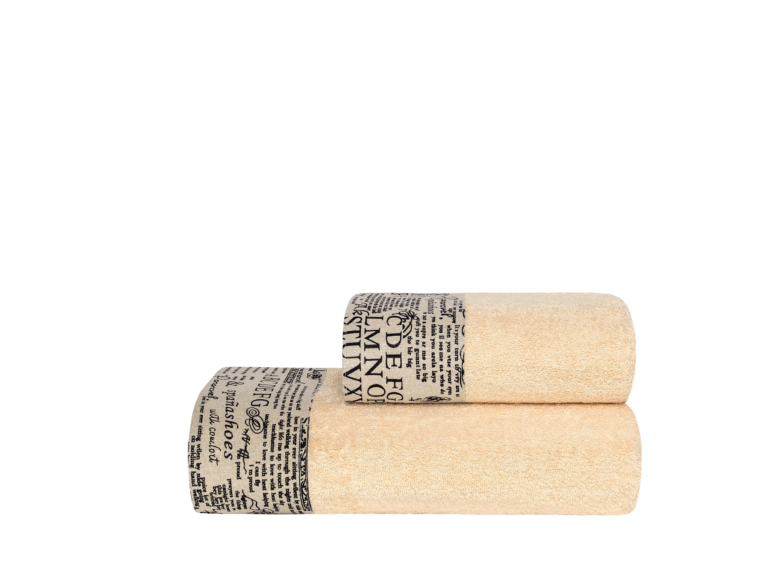 Купить Полотенца ESTIA, Полотенце Гардиан Цвет: Бежевый (50х90 см), Греция, Персиковый, Махра