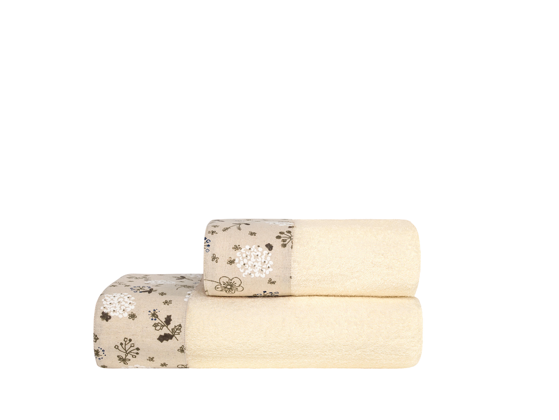 где купить Полотенца ESTIA Полотенце Прованс Цвет: Экрю (70х140 см) по лучшей цене