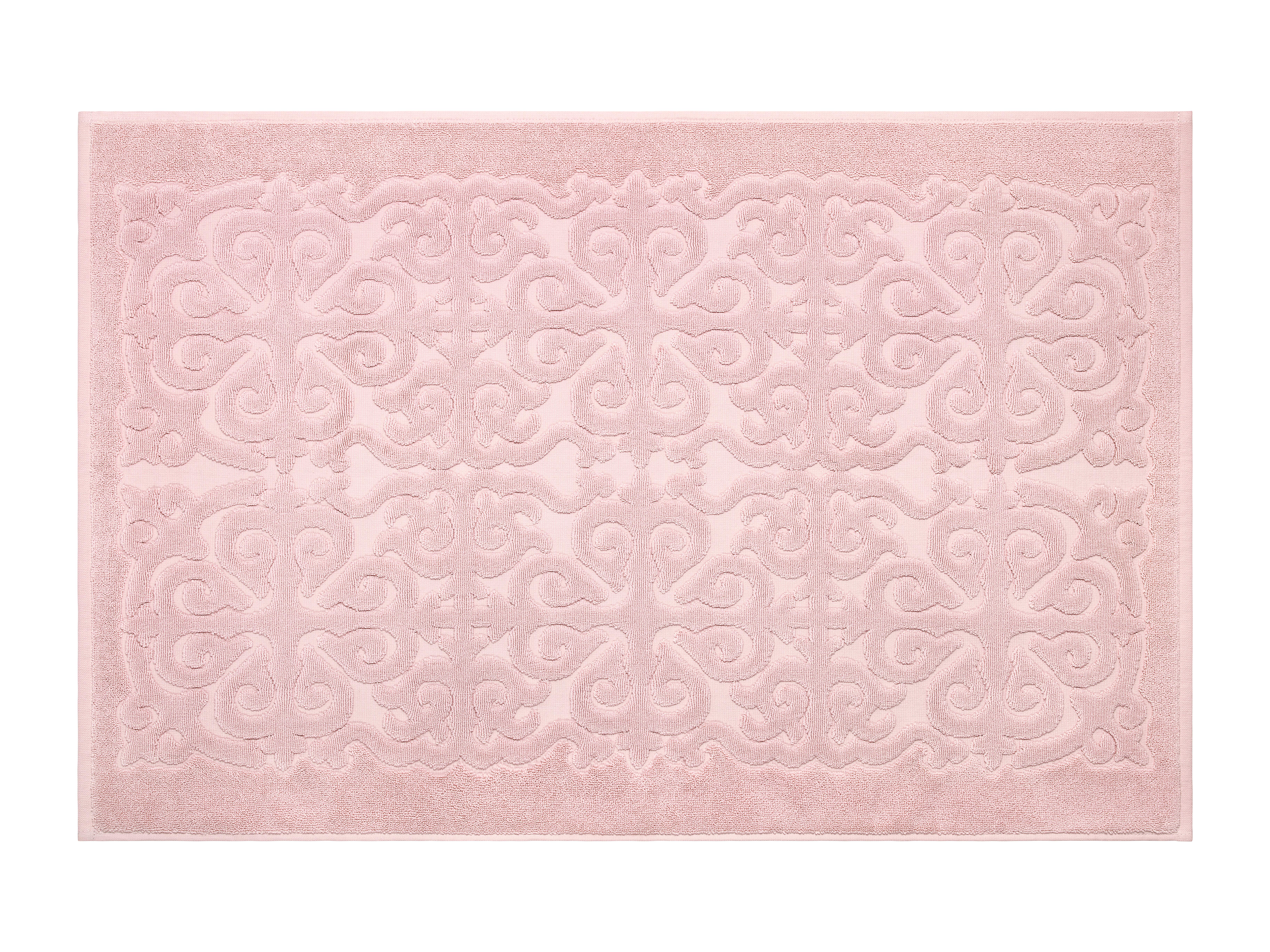 Купить Коврики для ванной и туалета ESTIA, Коврик для ванной Перла Цвет: Светло-Розовый (60х90 см), Греция, Махра
