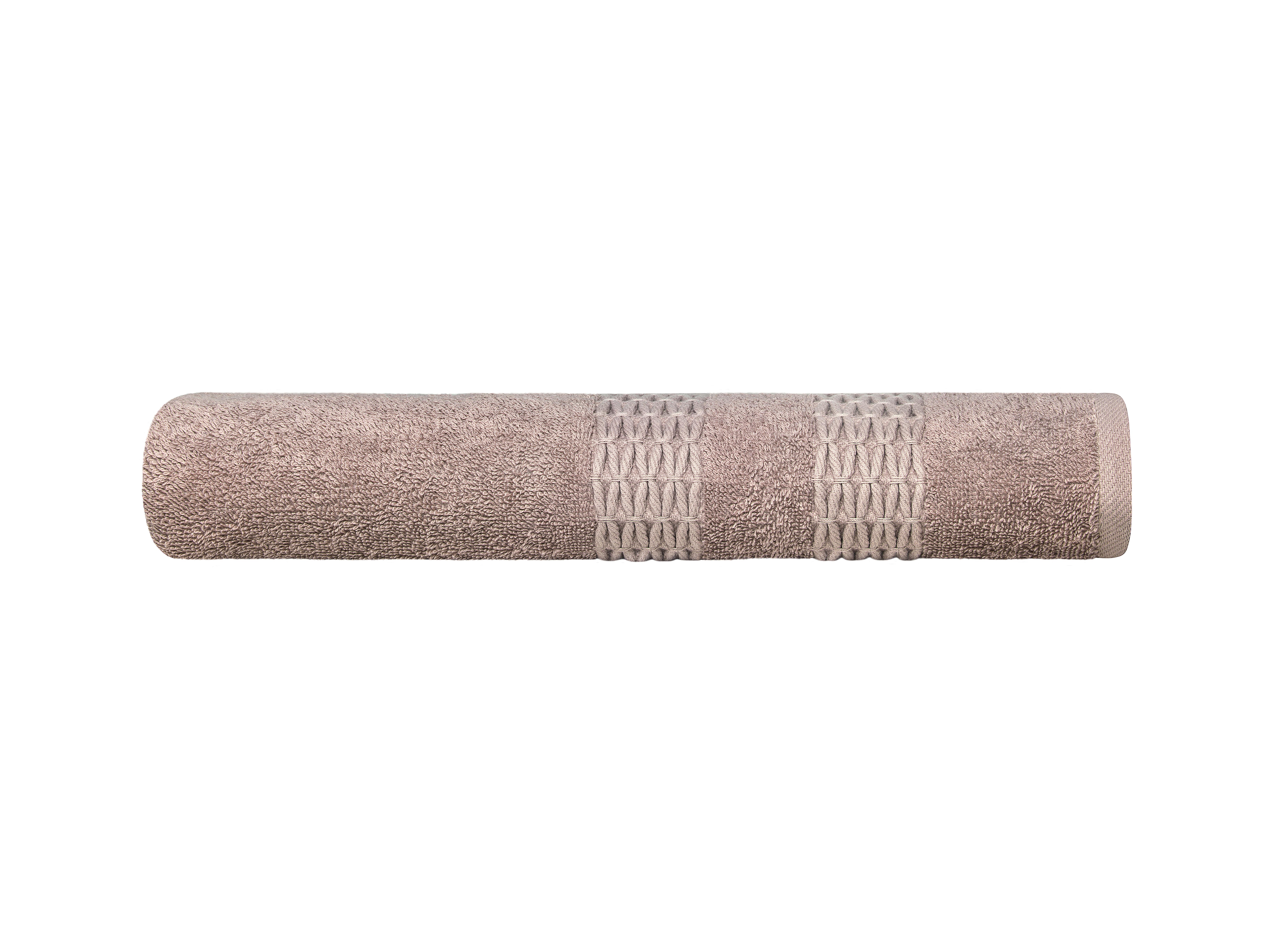 Купить Полотенца ESTIA, Полотенце Филоменто Цвет: Бежевый (70х140 см), Греция, Махра