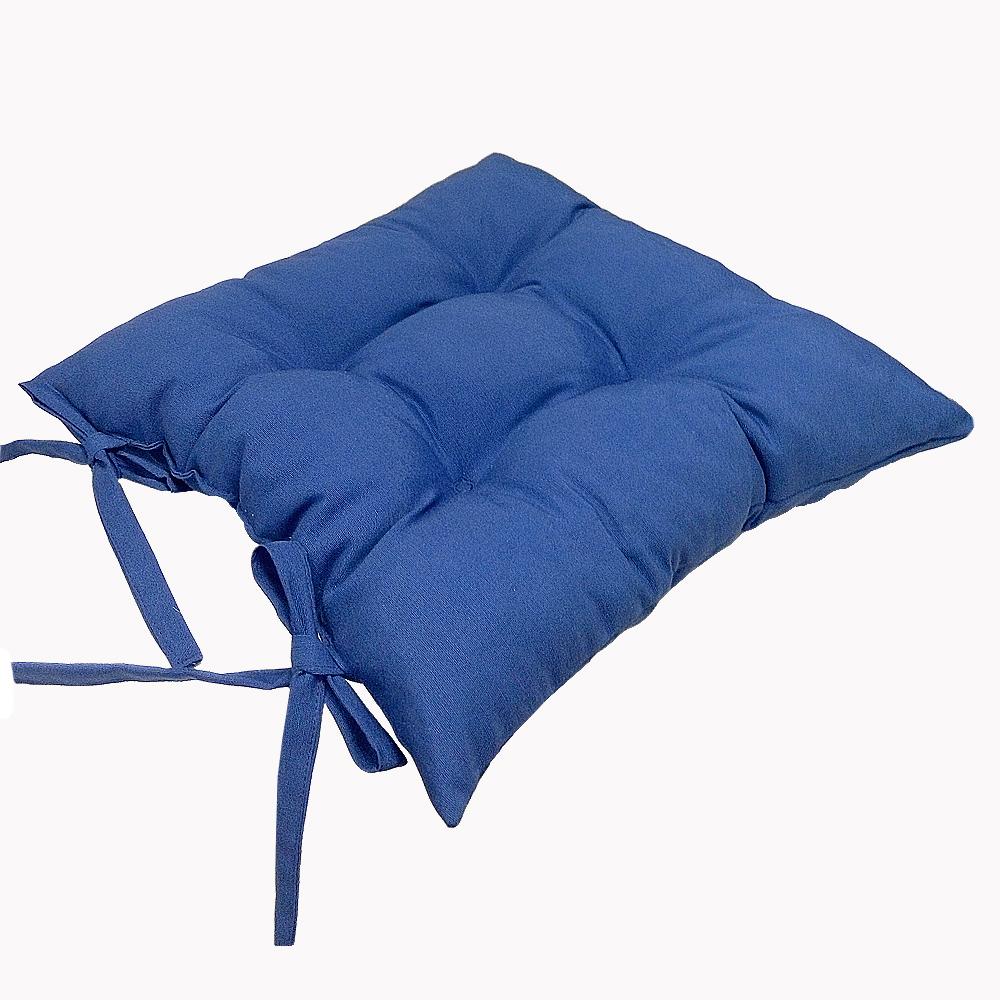 Купить Декоративные подушки Apolena, Подушка на стул Lapis Цвет: Голубой (40х40), Россия-Турция, Поликоттон