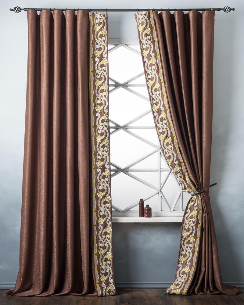 Шторы PASIONARIA Классические шторы Валери Цвет: Коричневый