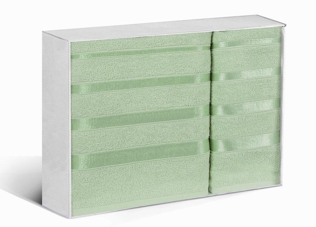 Купить Полотенца Soavita, Полотенце Шантони Цвет: Светло-Зеленый (50х88 см, 65х138 см), Китай, Махра