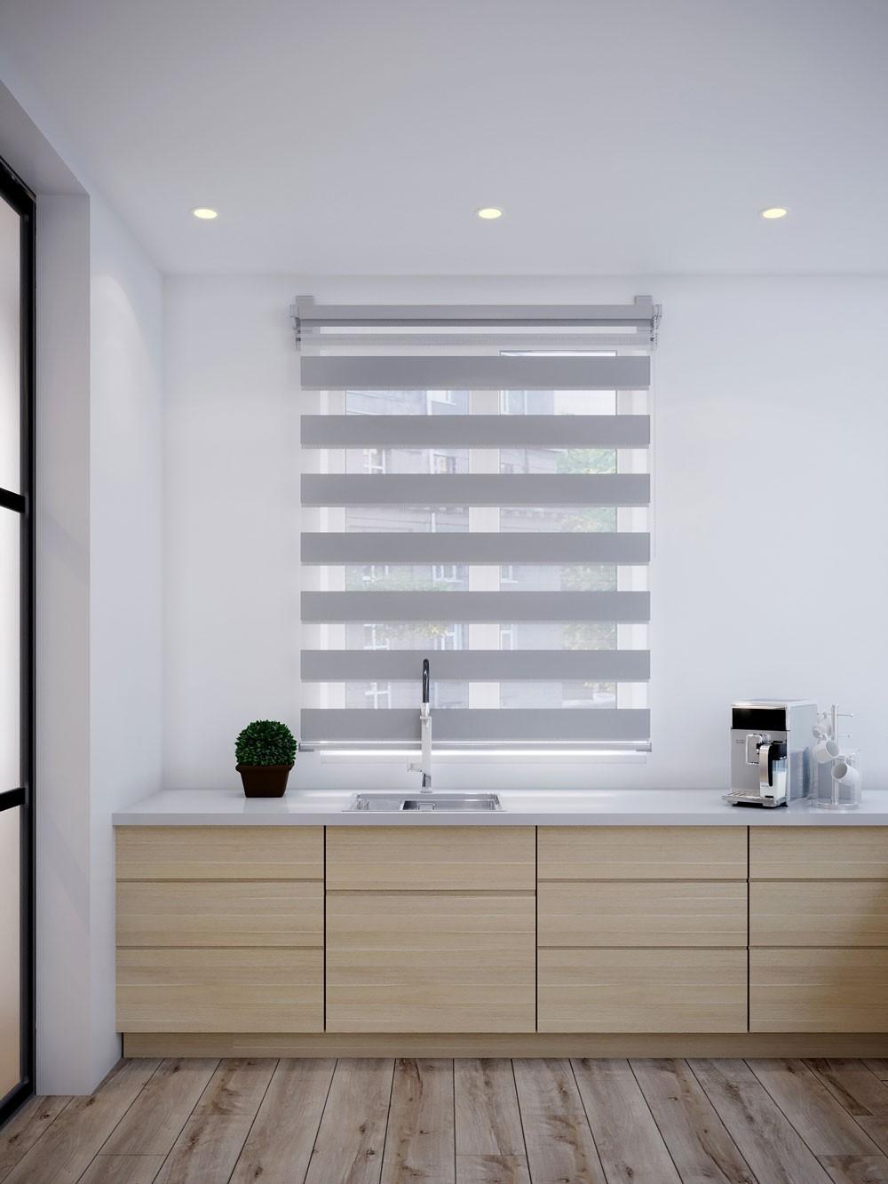 Рулонные шторы Бейс цвет: серый