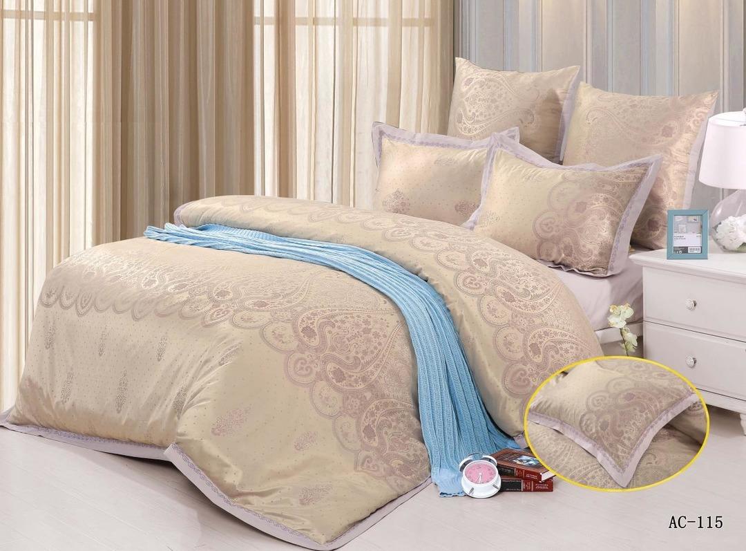 Купить Комплекты постельного белья Arlet, Постельное белье Micaiah (2 спал.), Китай, Золотой, Сиреневый, Хлопковый сатин