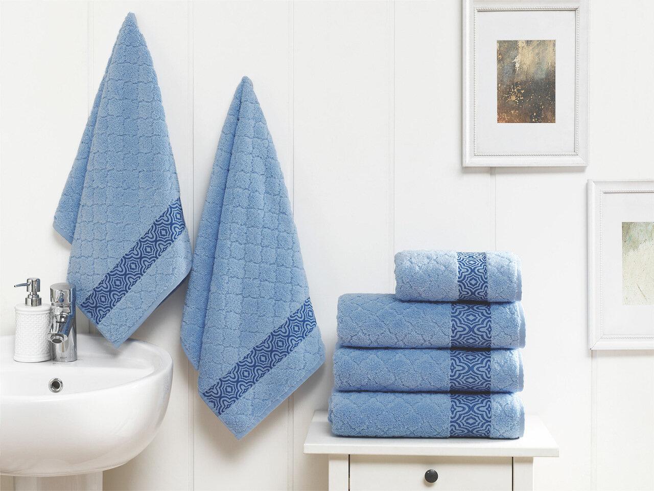 Полотенце Микрокоттон Цвет: Синий (50х90 см)
