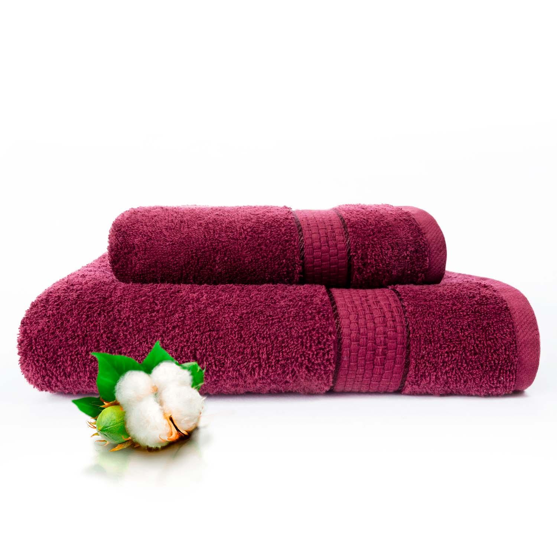 Набор из 2 полотенец Marakesh Цвет: Сливовый (50х90 см - 1 шт,70х140 см - 1 шт)