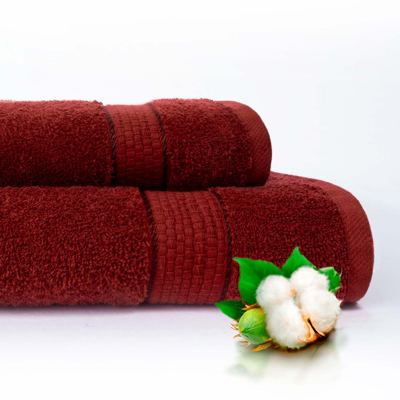 Набор из 2 полотенец Marakesh Цвет: Бордовый (50х90 см - 1 шт,70х140 см - 1 шт)