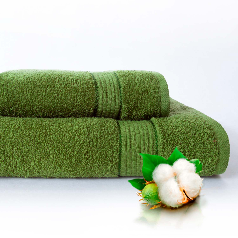 Набор из 2 полотенец Marakesh Цвет: Зеленый (50х90 см - 1 шт,70х140 см - 1 шт)