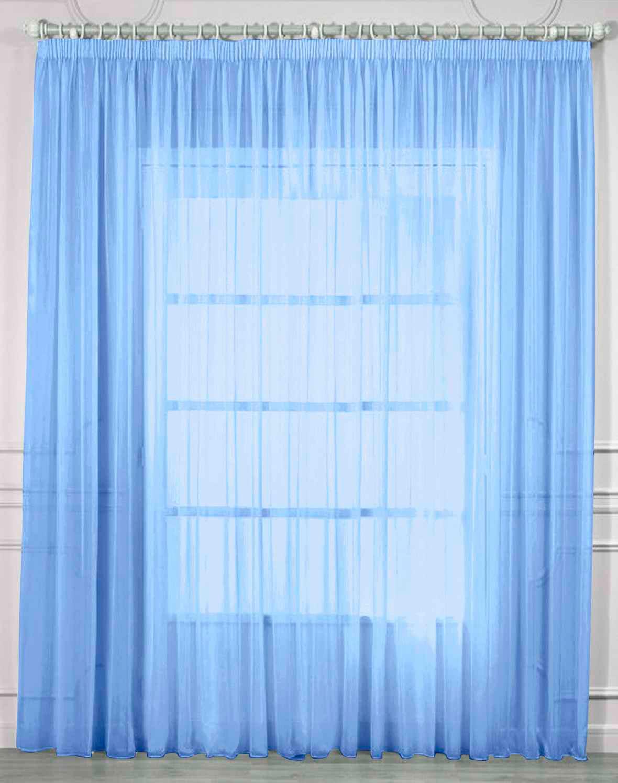 Купить Шторы Amore Mio, Классические шторы Pretty Цвет: Голубой, Китай, Вуаль