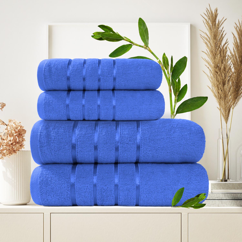 Набор из 4 полотенец Antaliya Цвет: Голубой (50х90 см - 2 шт, 70х140 см - 2 шт)