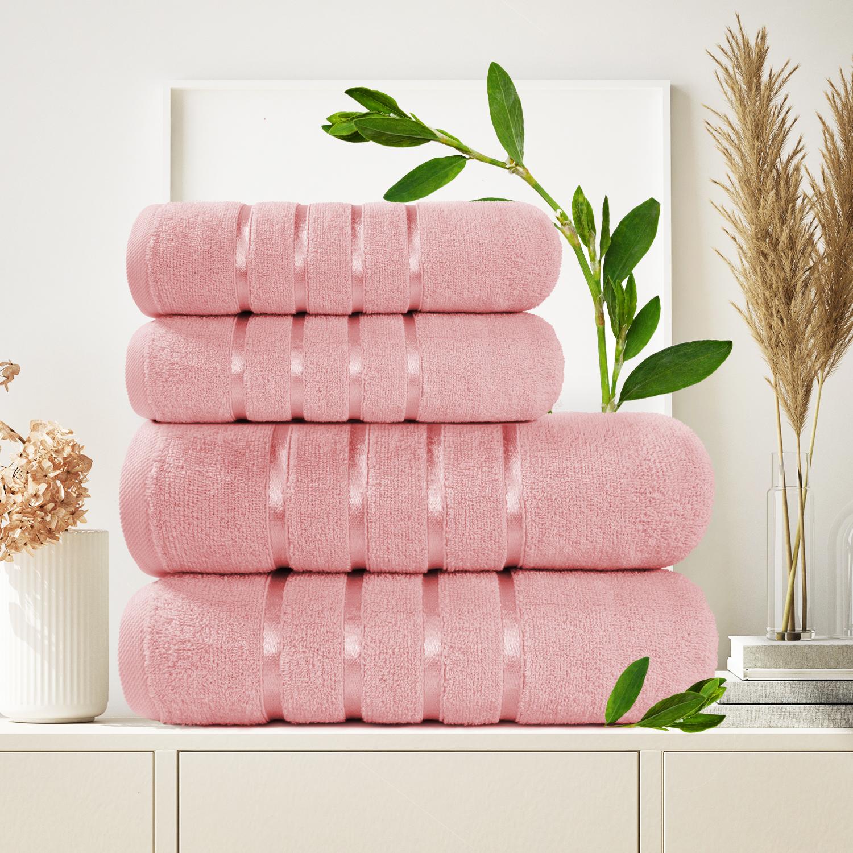Набор из 4 полотенец Antaliya Цвет: Розовый (50х90 см - 2 шт, 70х140 см - 2 шт)