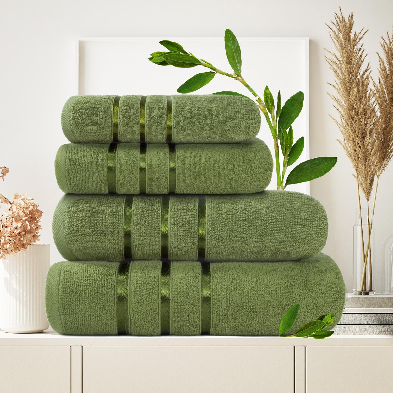 Набор из 4 полотенец Antaliya Цвет: Зеленый (50х90 см - 2 шт, 70х140 см - 2 шт)