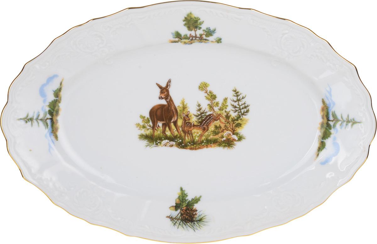 Блюдо овальное Охотничьи сюжеты (26 см) Thun 1794 a.s. thu770010