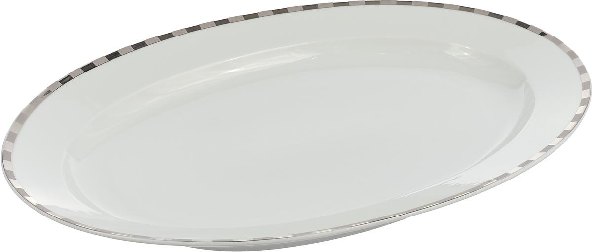Блюдо овальное Опал. Платиновые пластинки (36 см) Thun 1794 a.s. thu770694