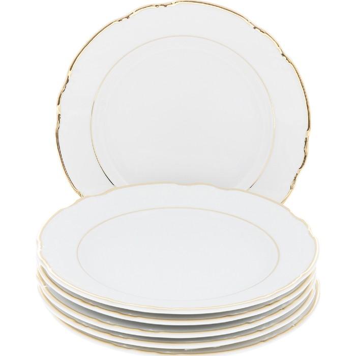 Тарелка десертная Mahlah. Отводка золото (17 см - 6 шт) Thun 1794 a.s. thu770538