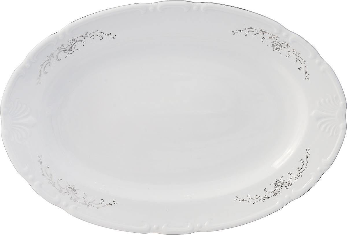 Блюдо овальное Серый орнамент (39 см) Thun 1794 a.s. thu770485