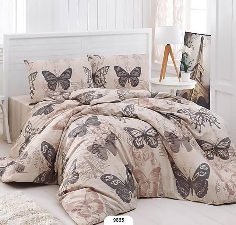 Купить Комплекты постельного белья Anatolia, Постельное белье Butterfiy (2 сп. евро), Турция, Ранфорс
