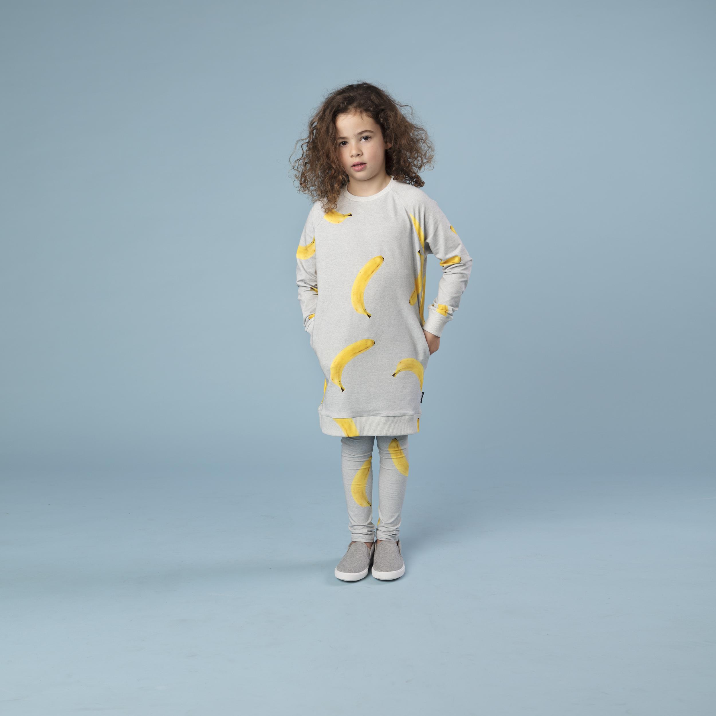 Платье и леггинсы для девочек Бананово-Серый (11-12 лет) фото