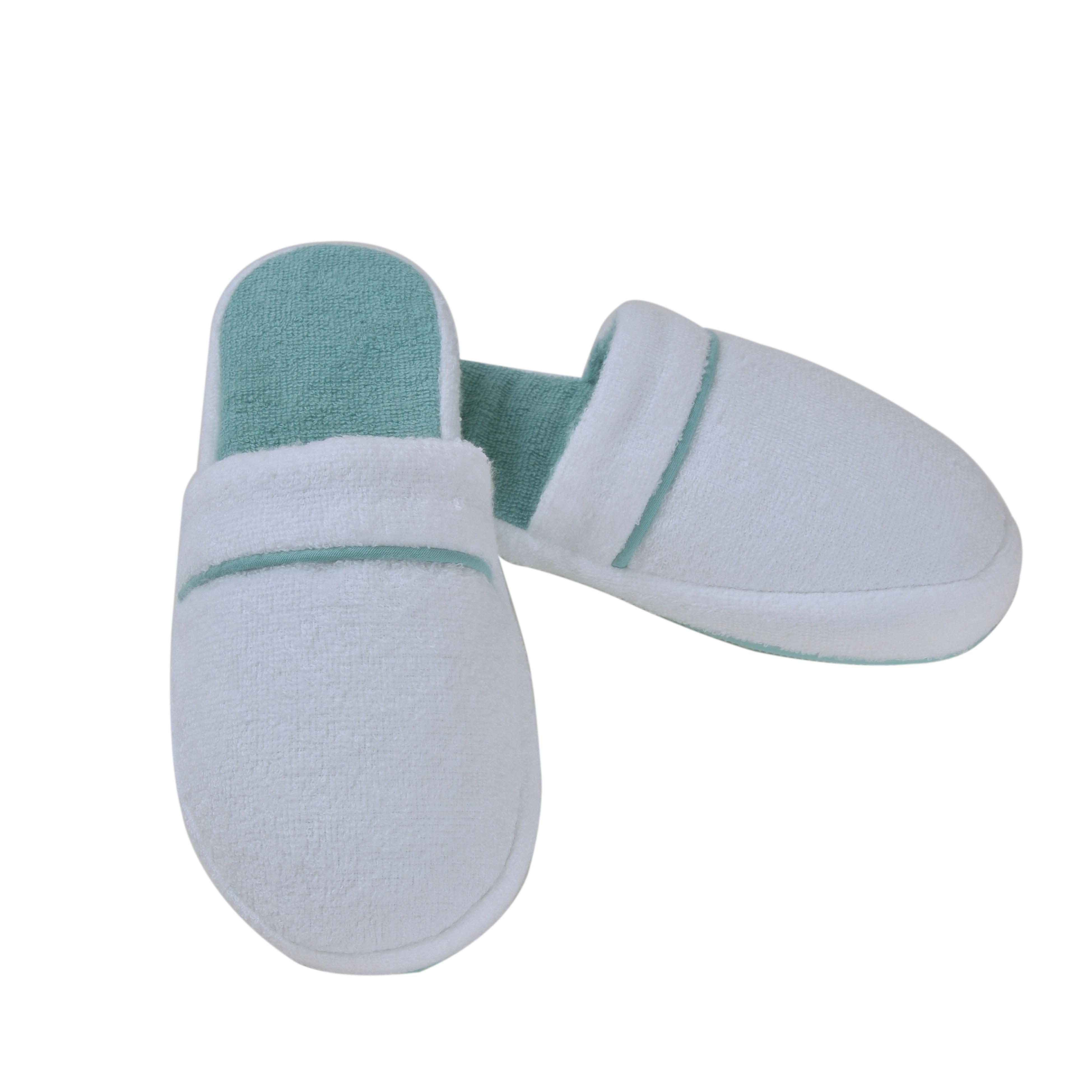 Тапочки Qashmare Contrast Цвет: Белый, Бирюзовый (38-39) HAMAM ham436749