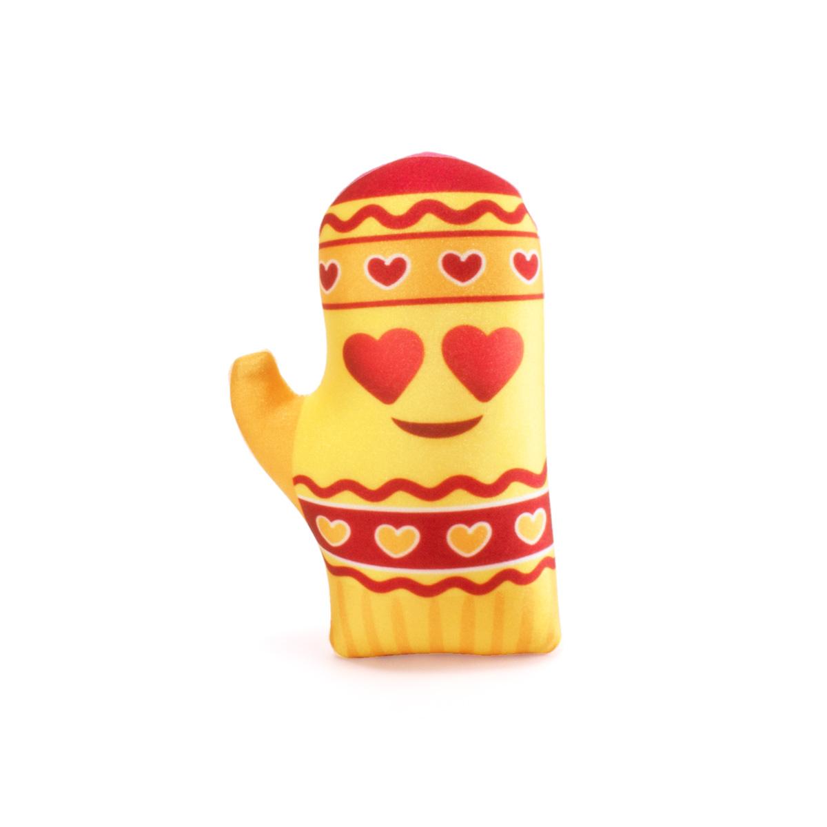 Декоративная подушка Варежка Цвет: Желтый (17х25) фото