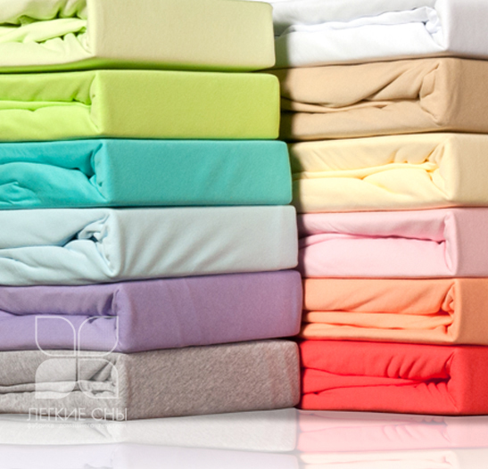 Простыня на резинке Color Way Цвет: Персиковый (160х200 см) фото