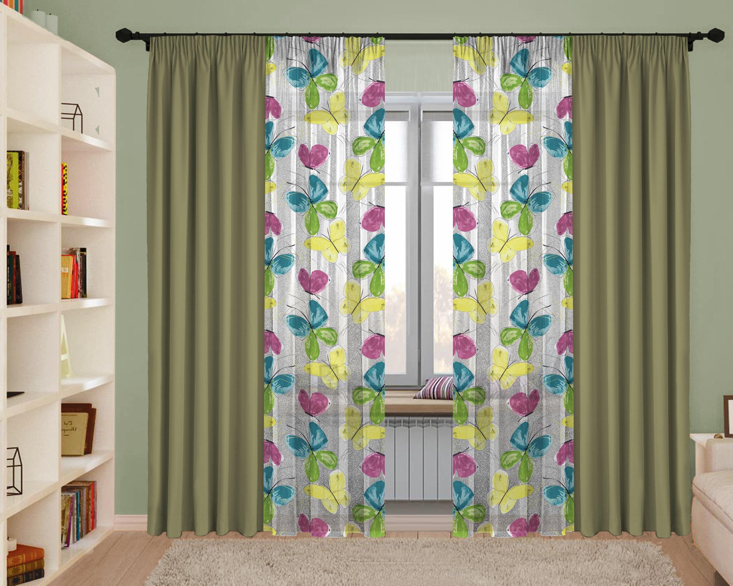 Эксклюзивный дизайн двухцветных штор фото активного отдыха