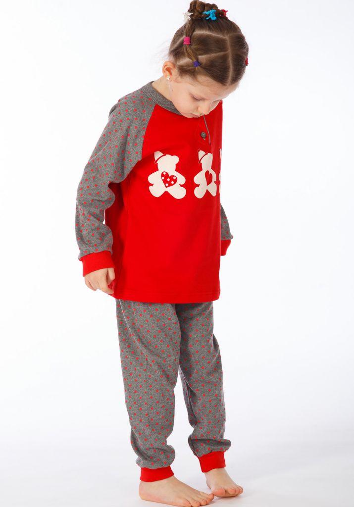 Детская пижама Emiline Цвет: Серый (9 лет) фото