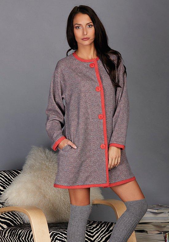 Домашний халат Viniana Цвет: Серый (42) Vilfram vilf509079