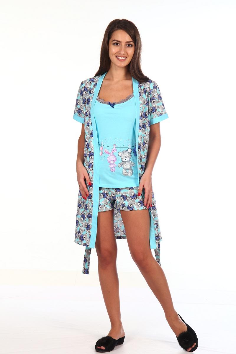 Комплект с халатом Azel Цвет: Голубой (46) фото