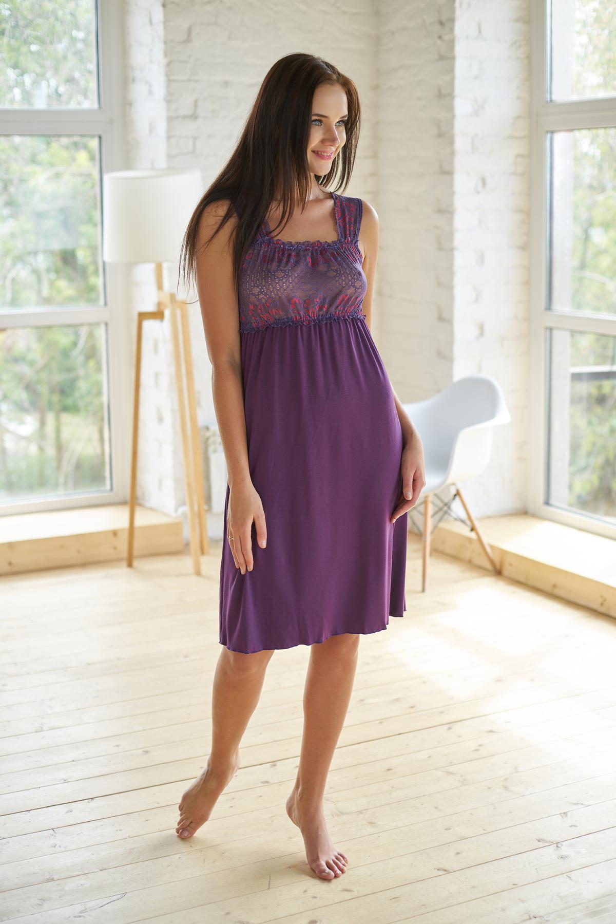 Ночная сорочка Paulina Цвет: Баклажановый (46) Sharlize sha514648