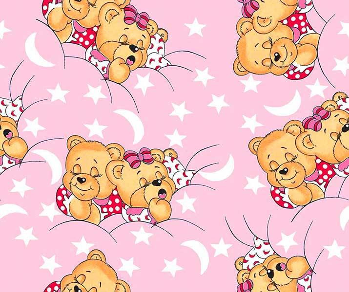 Детское Постельное белье Sonnye mishki na rozovom (150х215 см) фото
