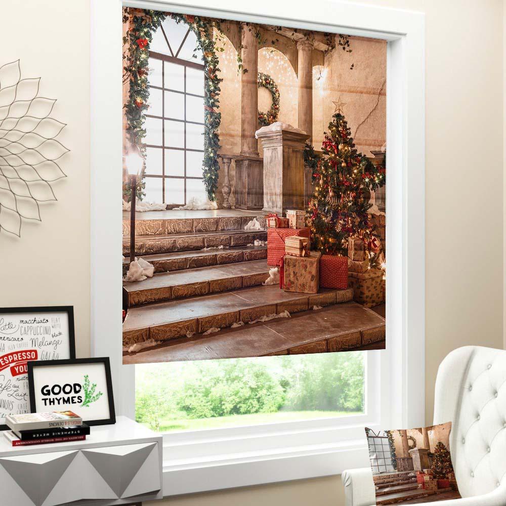 Римские шторы Новый Год 259 фото