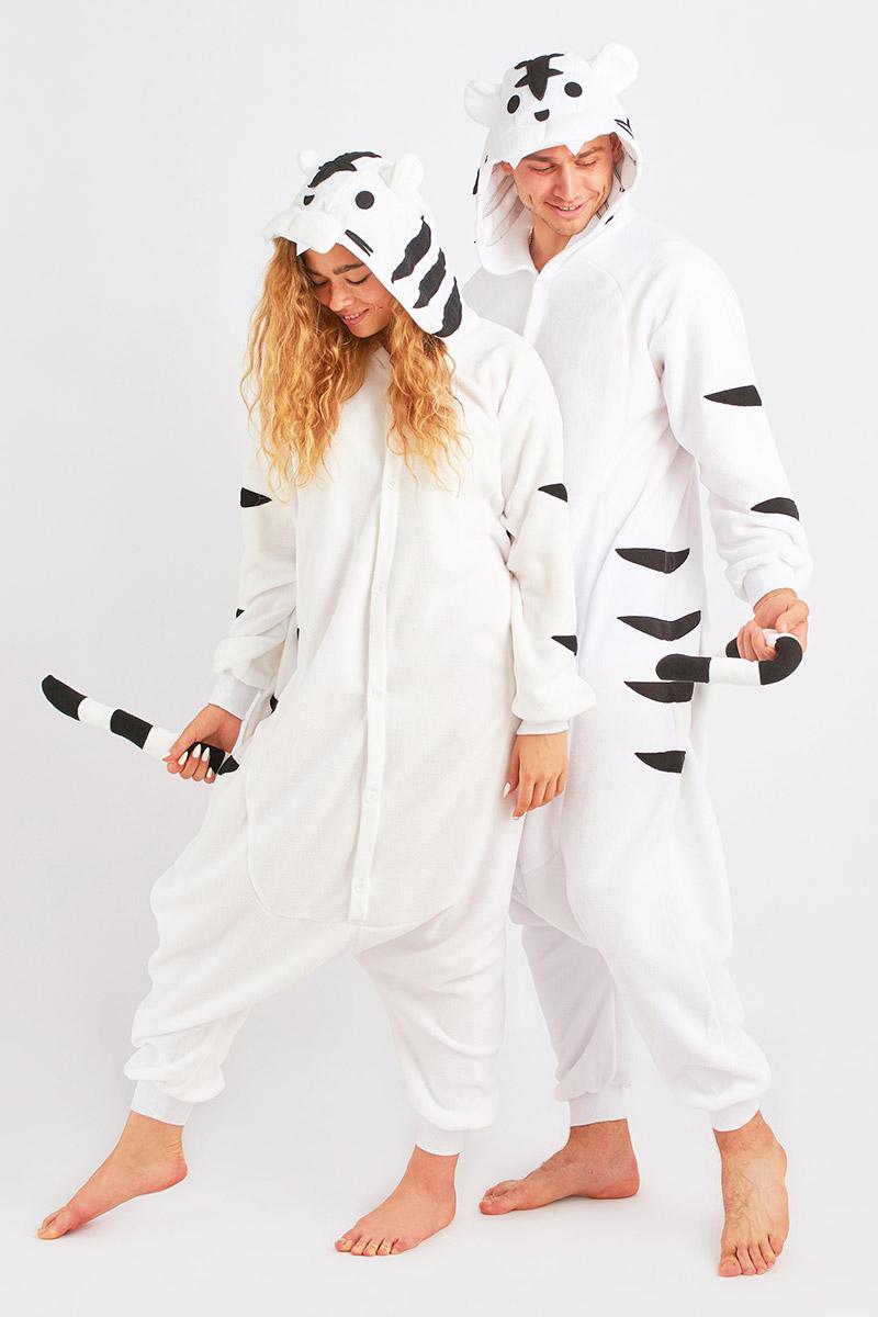Пижама-кигуруми Тигр Цвет: Белый (S) фото