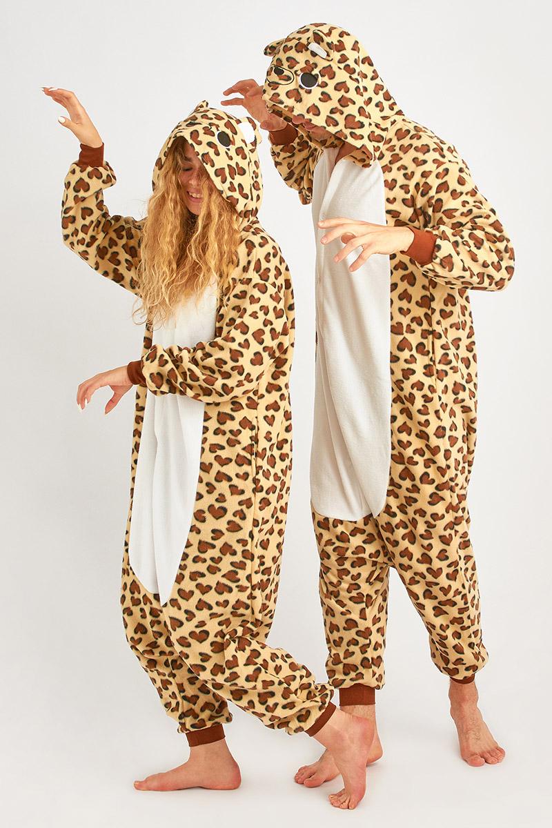 Пижама-кигуруми Леопард (S).