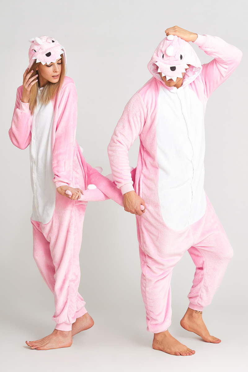 Пижама-кигуруми Динозавр Цвет: Розовый (L).