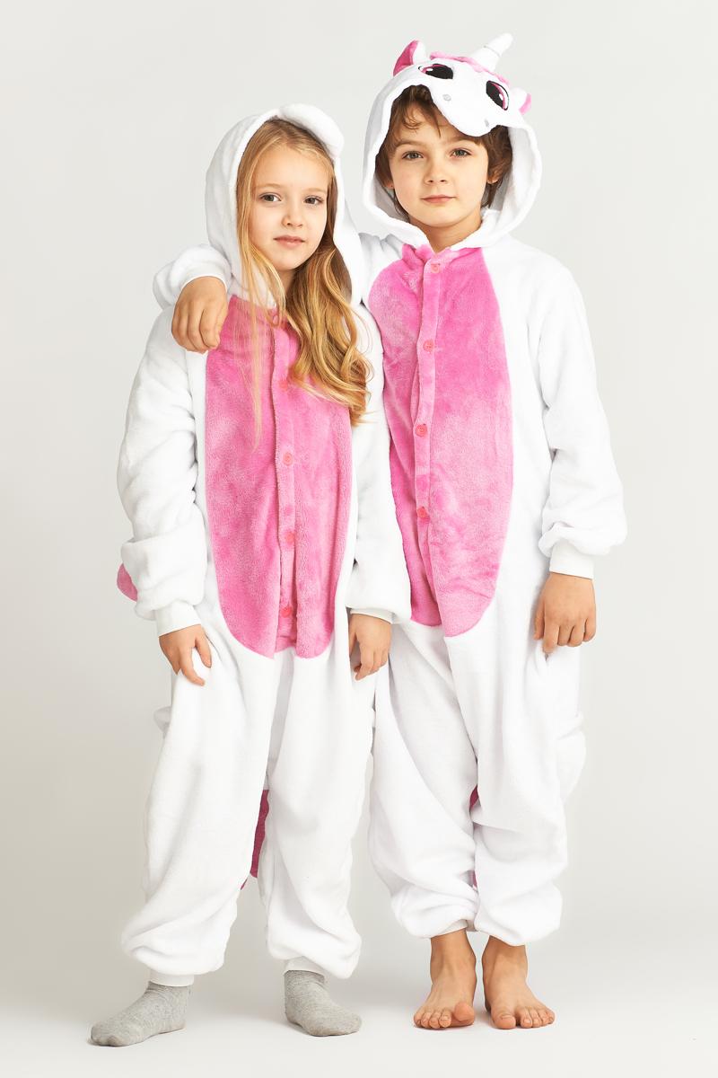 Детская пижама-кигуруми Пегас Цвет: Розовый (3-5 лет) фото