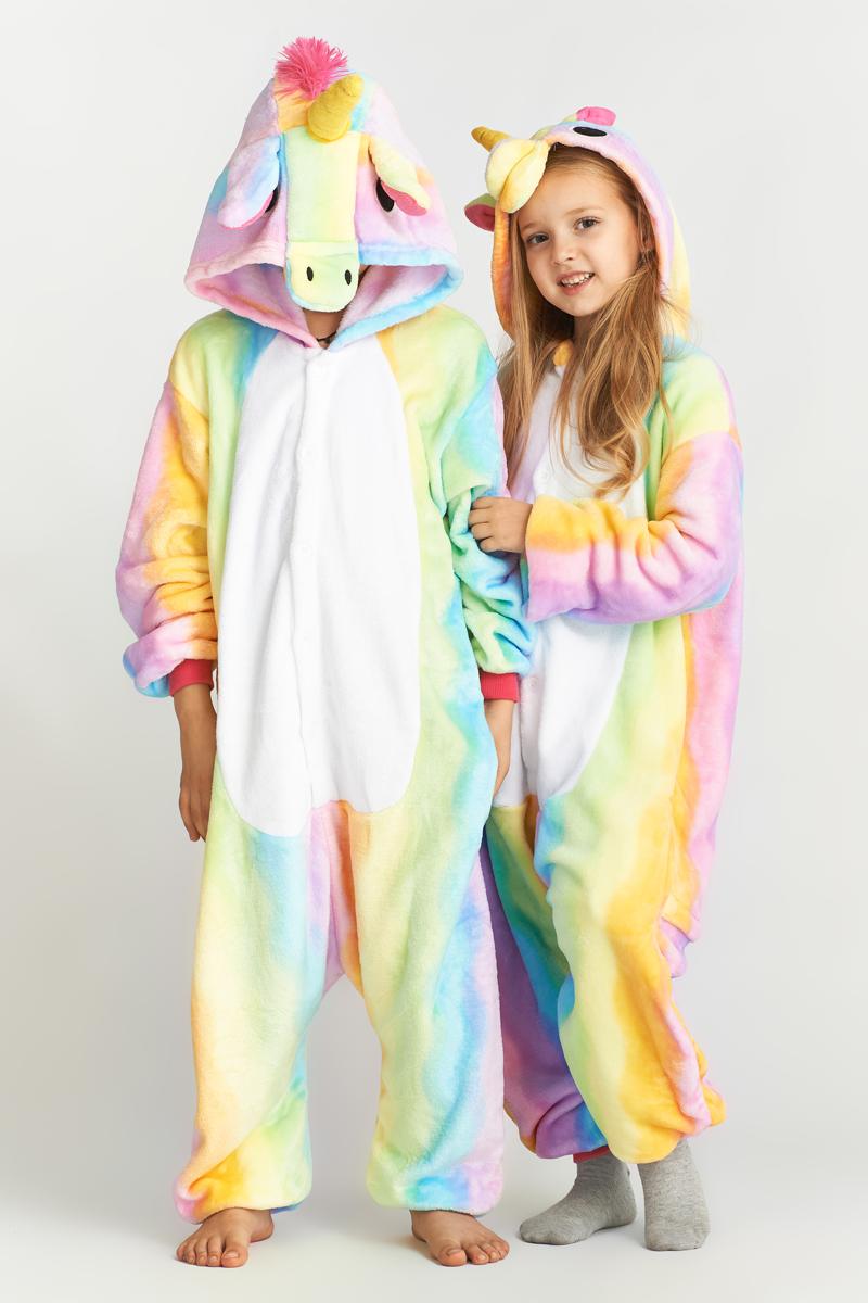 Детская пижама-кигуруми Радужный Единорог (2-4 года) фото