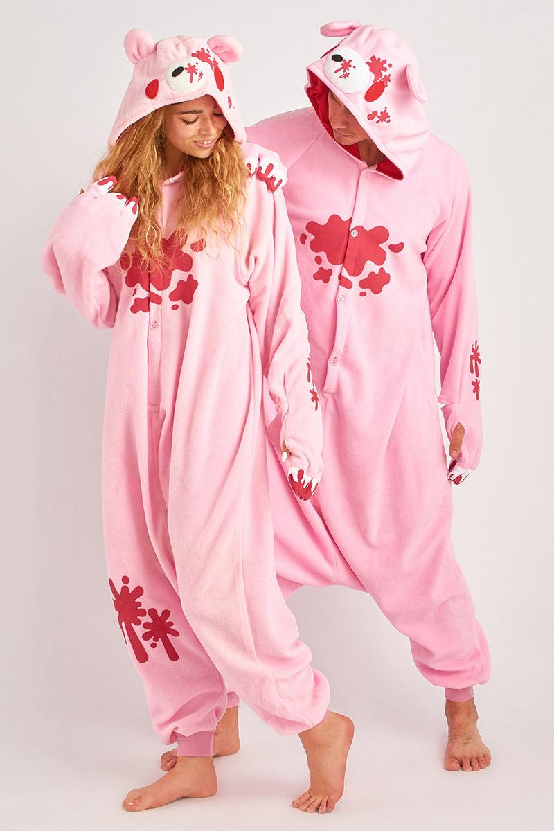 Пижама-кигуруми Мрачный Розовый Медведь (S).
