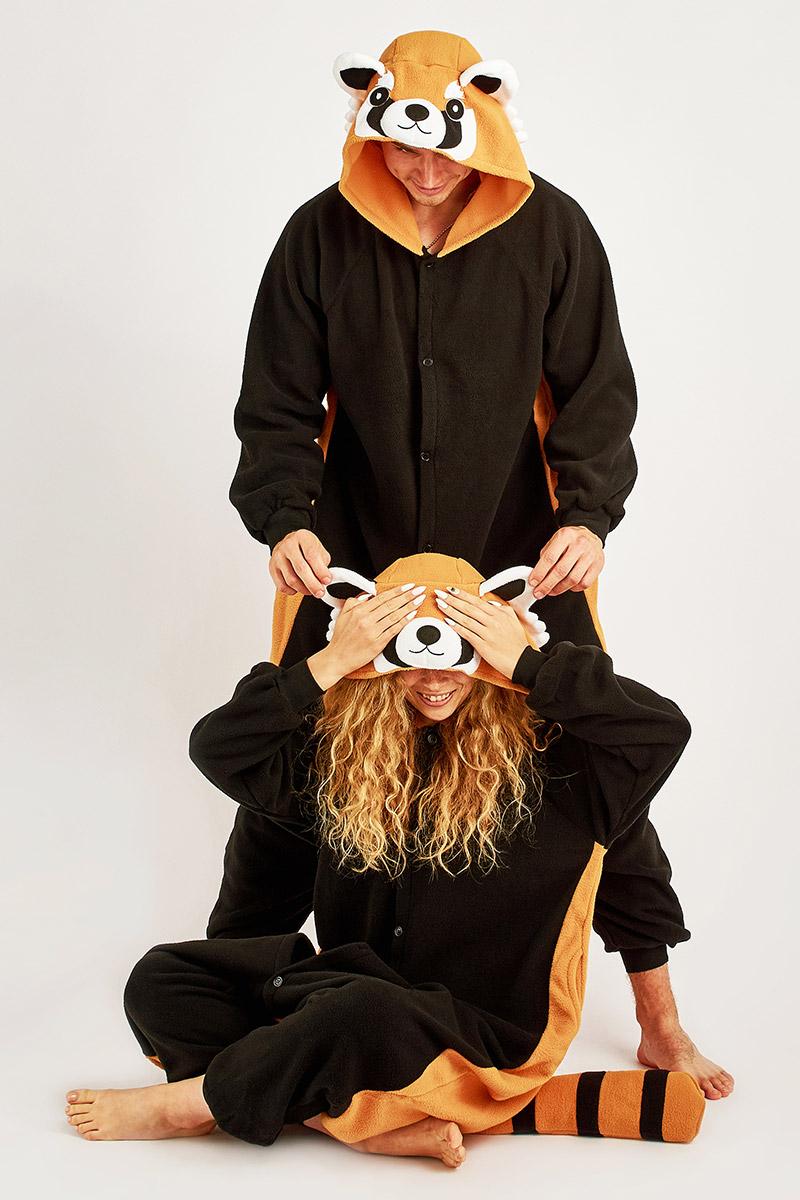 Пижама-кигуруми Енот (M).