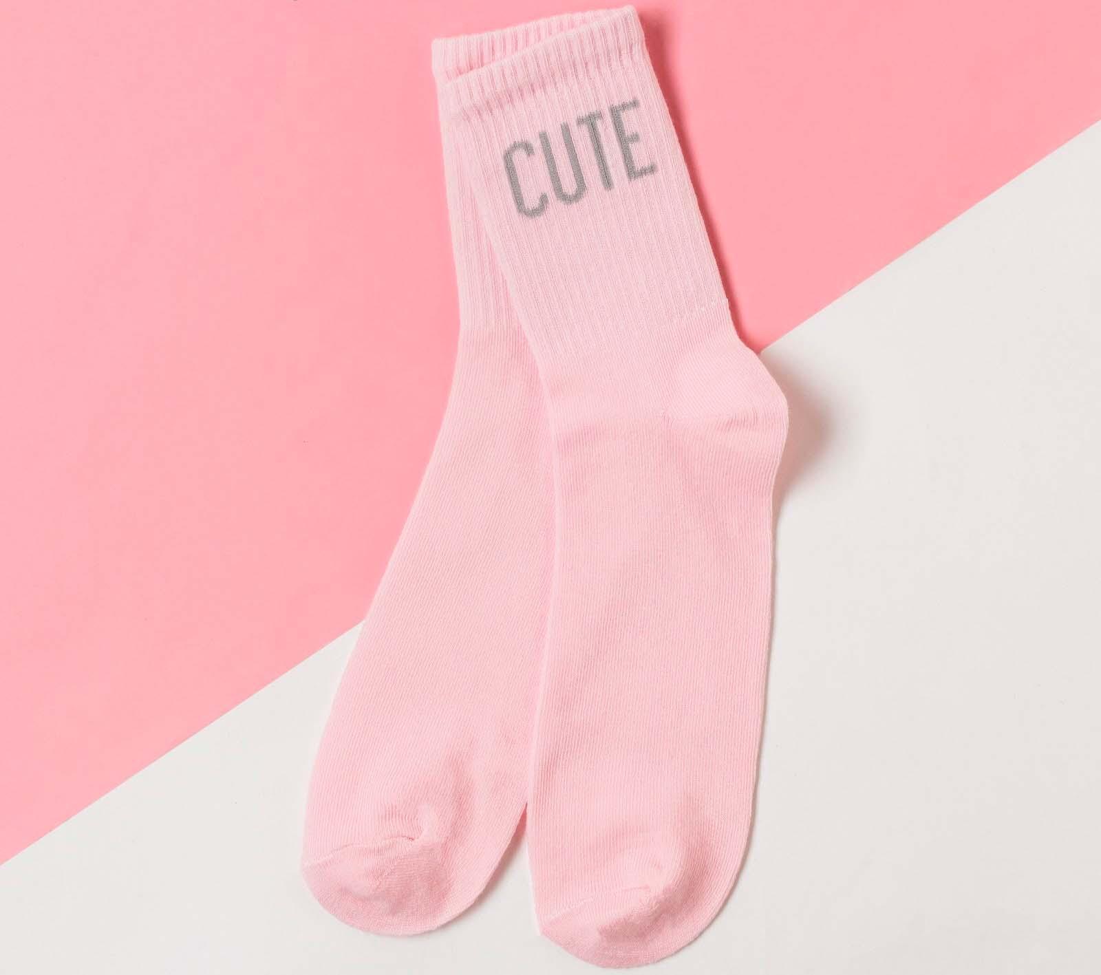 Носки женские Cute цвет: розовый (36-40)