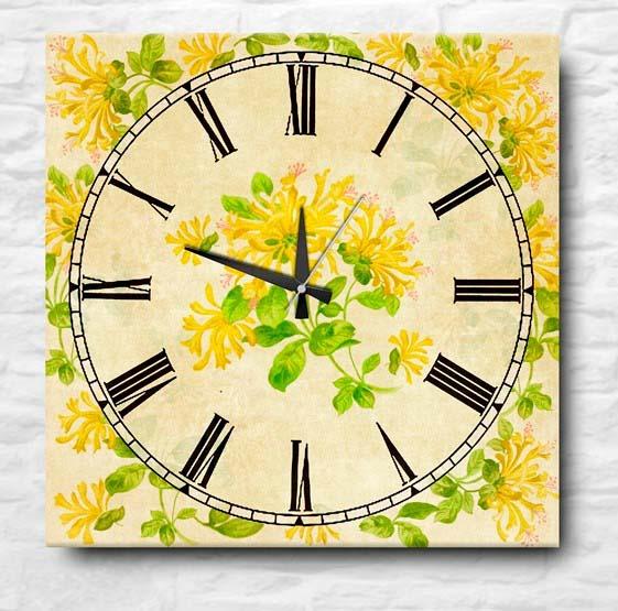 Часы Yellow Flowers (40х40 см) Apolena apl262275