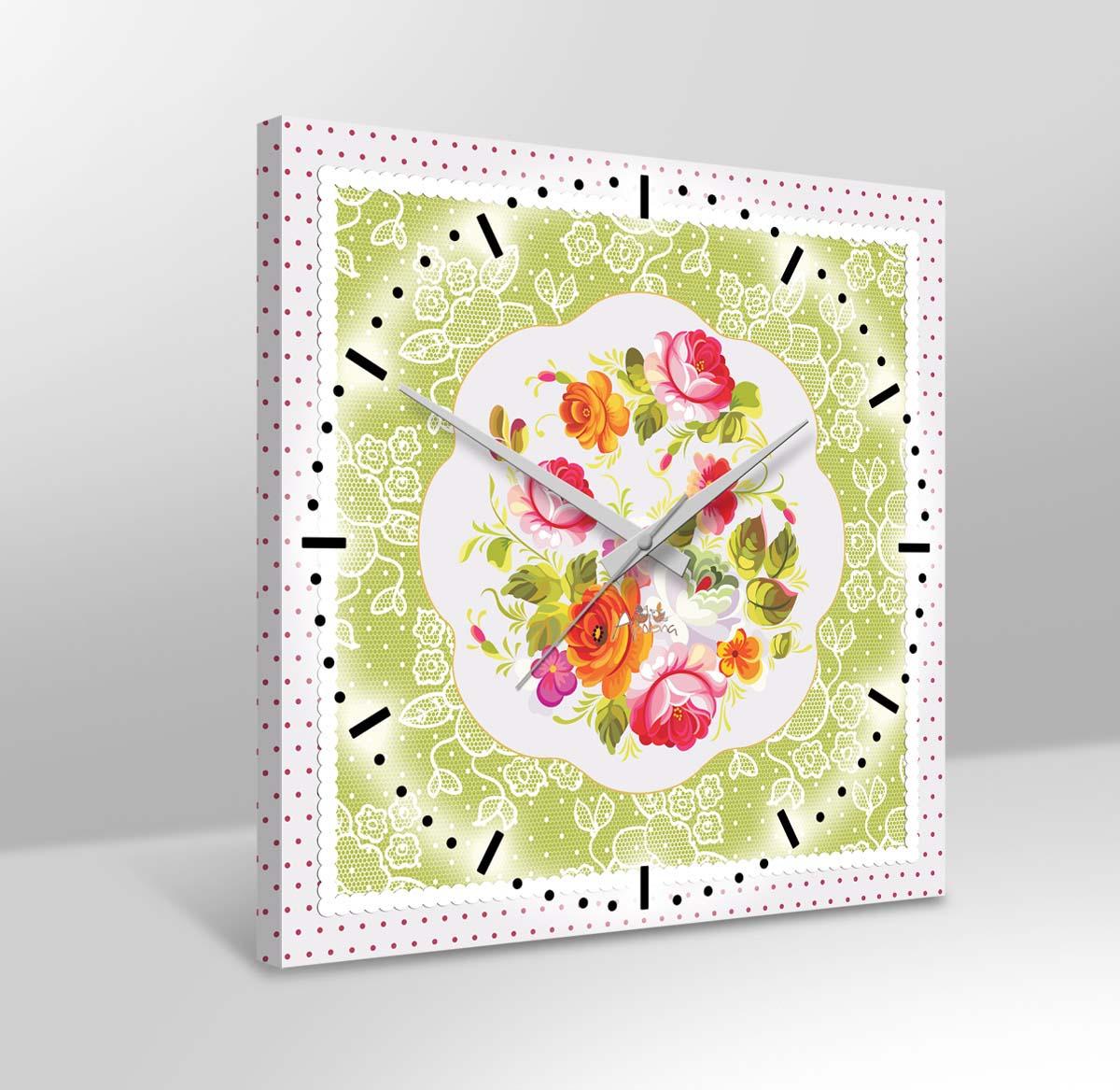 Часы Романтический Завтрак (38х38 см) Apolena apl262310
