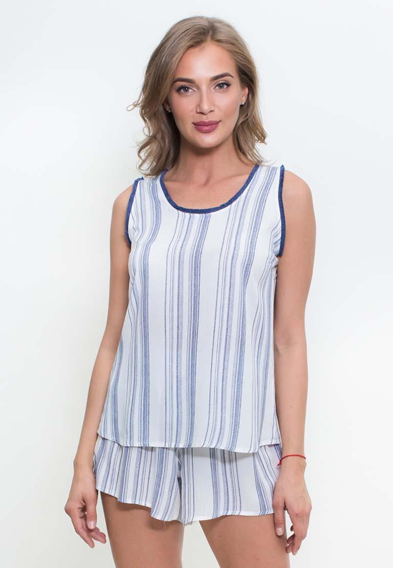 Пижама Anona Цвет: Белый Синий (M).