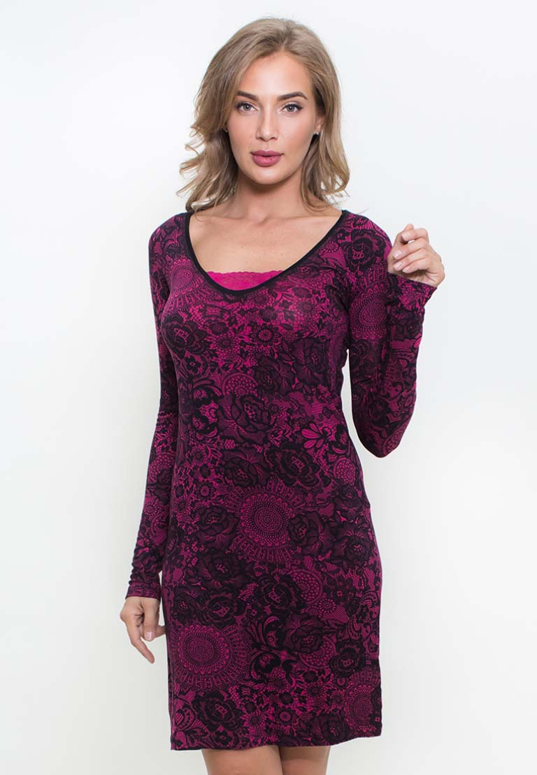 Платье Jewel Цвет: Малиновый (S).