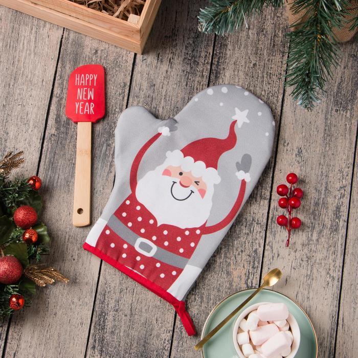 Подарочный набор с прихваткой Happy New Year Доляна dln730103