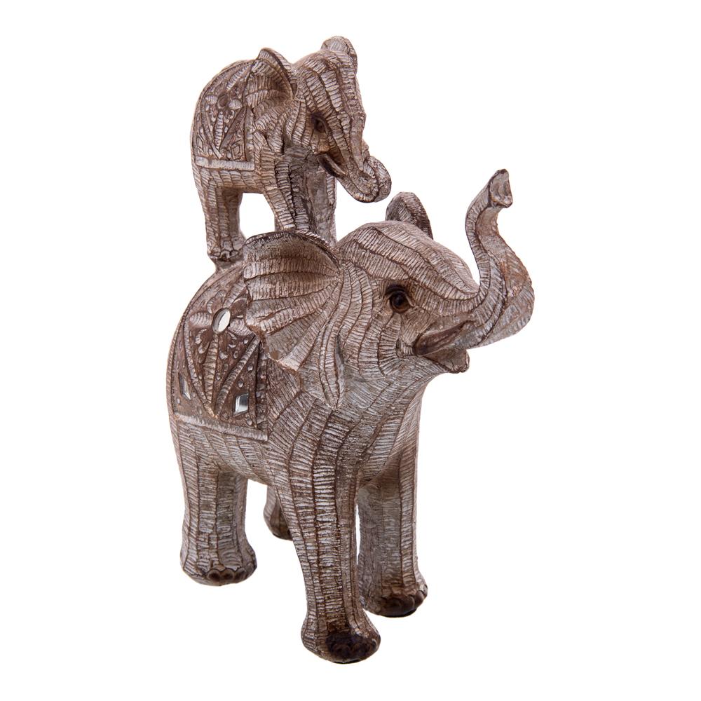 Фигурка Слониха со слоненком (17х8х20 см) Русский подарок non744205