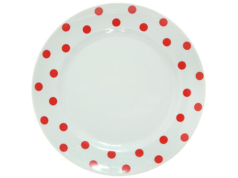 Тарелка Красный горошек Добрушский фарфоровый завод spe790831
